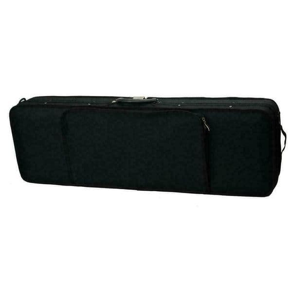 OBLONG VIOLIN HARD CASE, NICE QUALITY, WITH STRAPS, BUILT IN HYGROMETER!